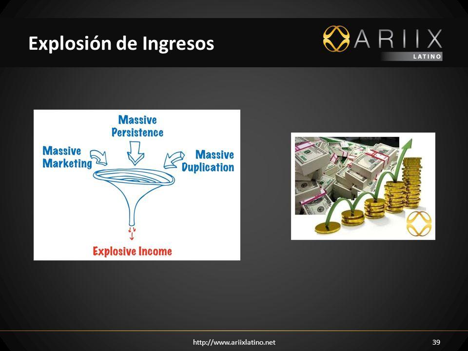 http://www.ariixlatino.net39 Explosión de Ingresos