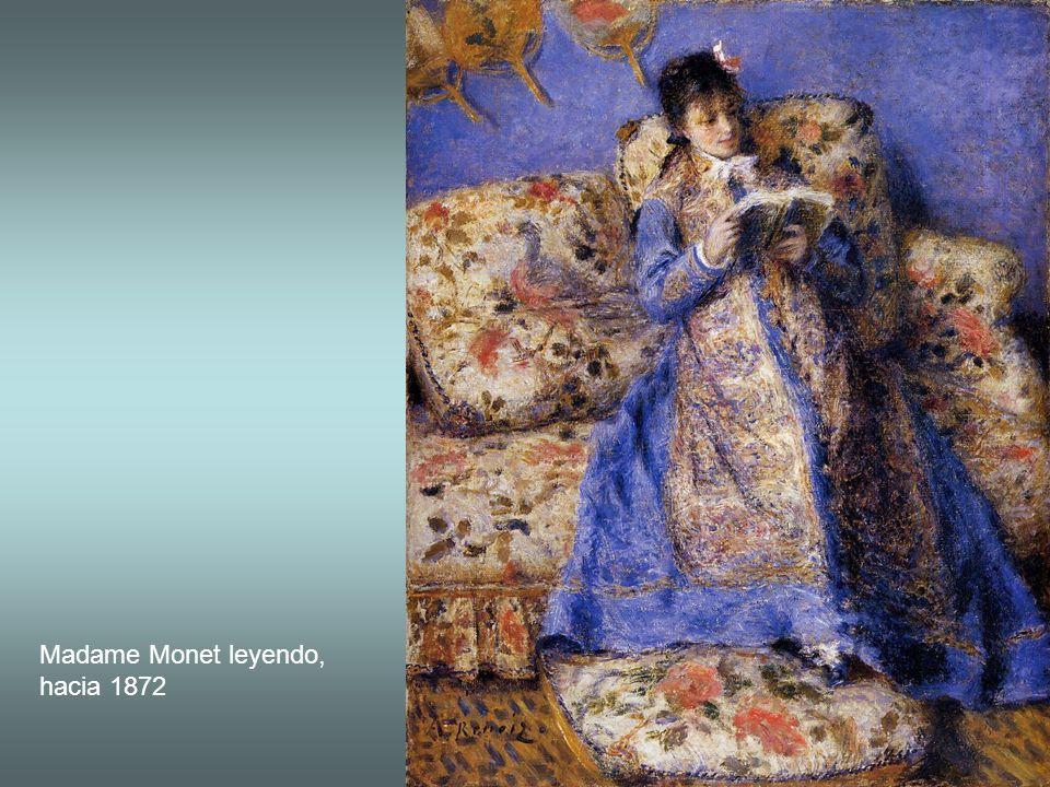 Madame Monet leyendo, hacia 1872