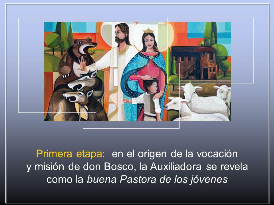 Desde el inicio, María es la Auxiliadora que se revela a don Bosco. Una Auxiliadora que sólo poco a poco muestra el verdadero esplendor de su rostro: