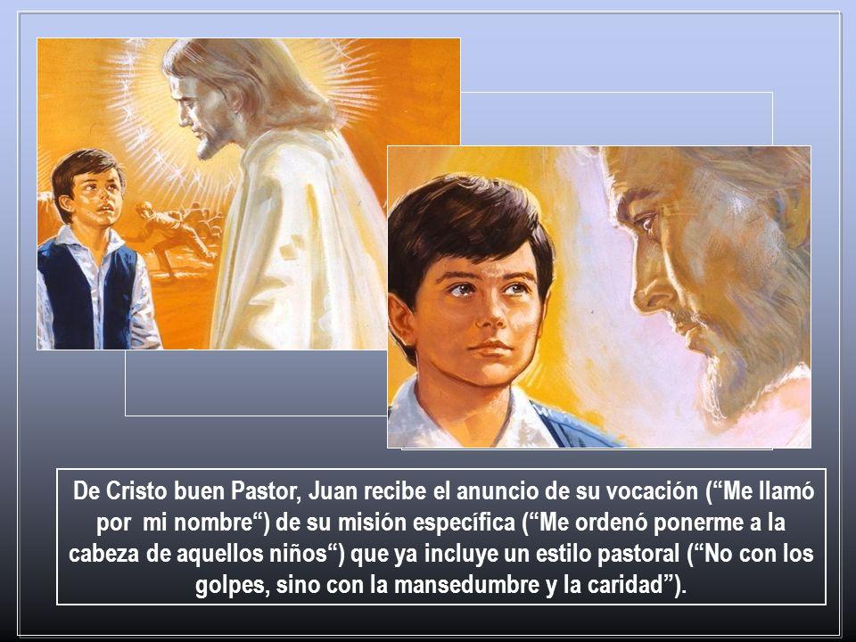 La primera intervención extraordinaria es sin duda el sueño de los nueve años. Don Bosco dice: me quedó profundamente grabado en la mente para toda la