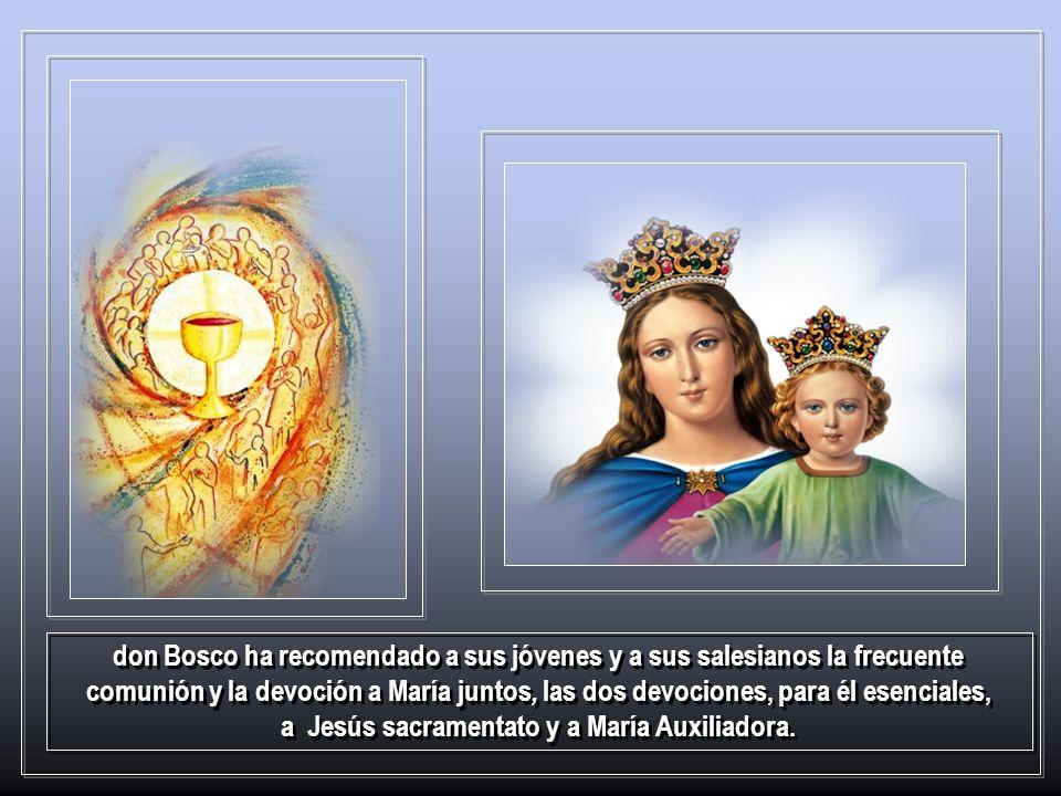 He aquí entonces la convicción de fondo de don Bosco sobre María y su modo fundamental de verla: María santísima es un personaje actual, prodigiosamen