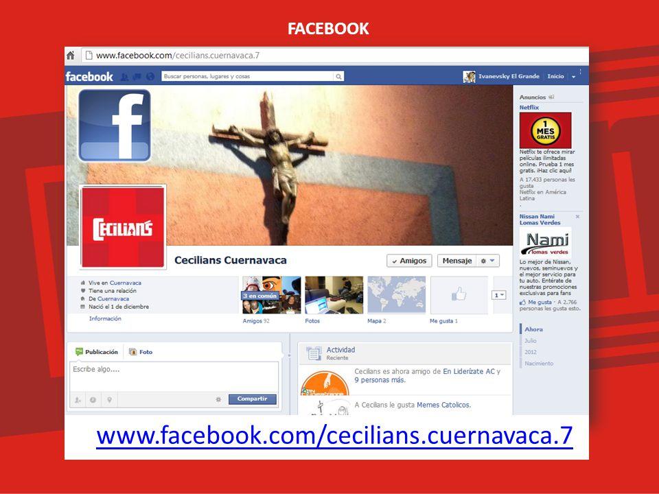 www.facebook.com/cecilians.cuernavaca.7 FACEBOOK