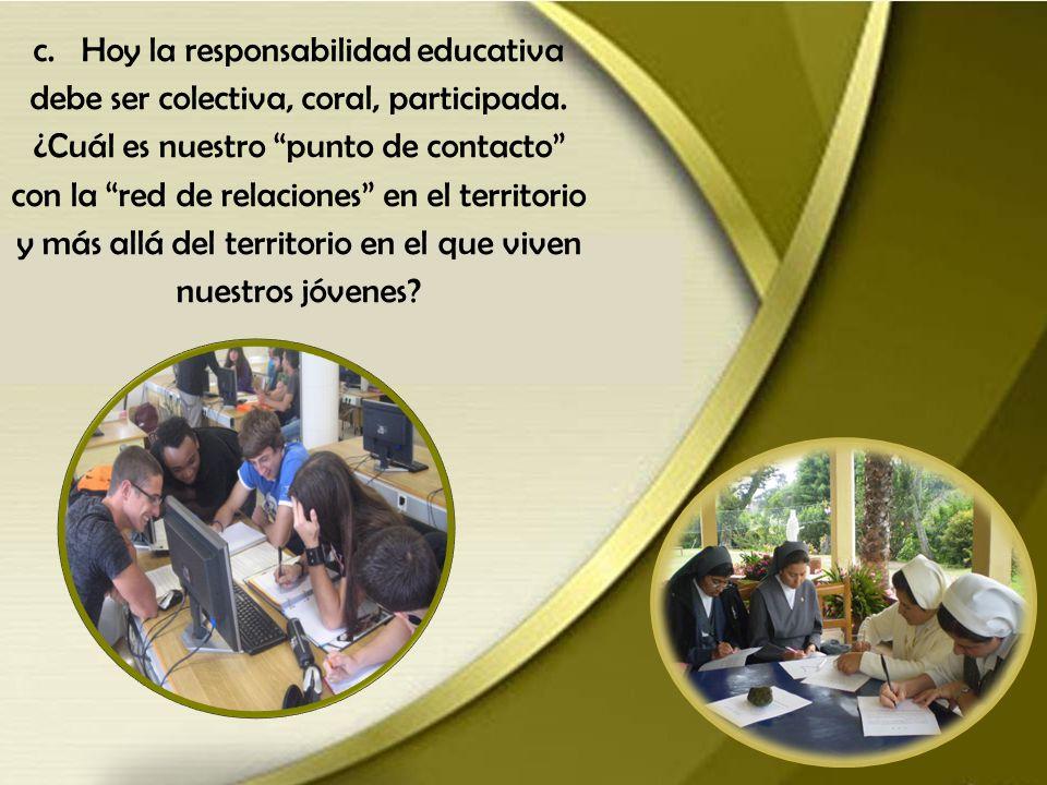 b. ¿Cuál es nuestra profesionalidad pastoral a nivel de reflexión teórica sobre los itinerarios educativos y la praxis pastoral?