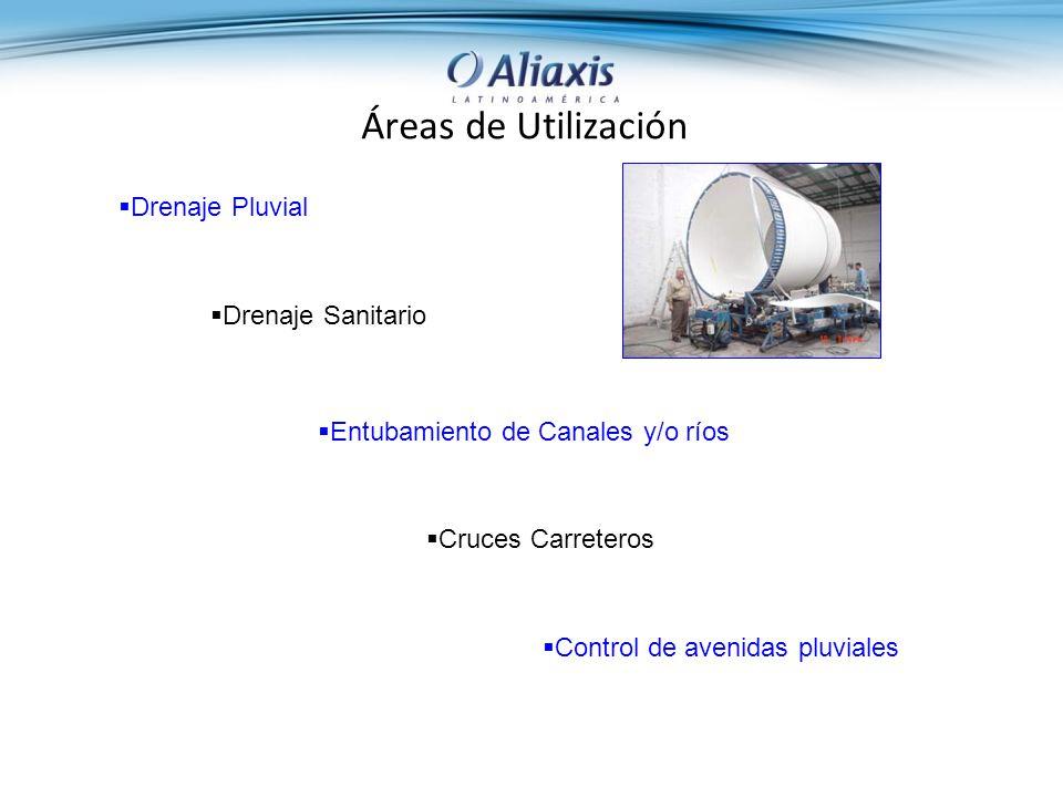 Áreas de Utilización Control de avenidas pluviales Cruces Carreteros Entubamiento de Canales y/o ríos Drenaje Sanitario Drenaje Pluvial