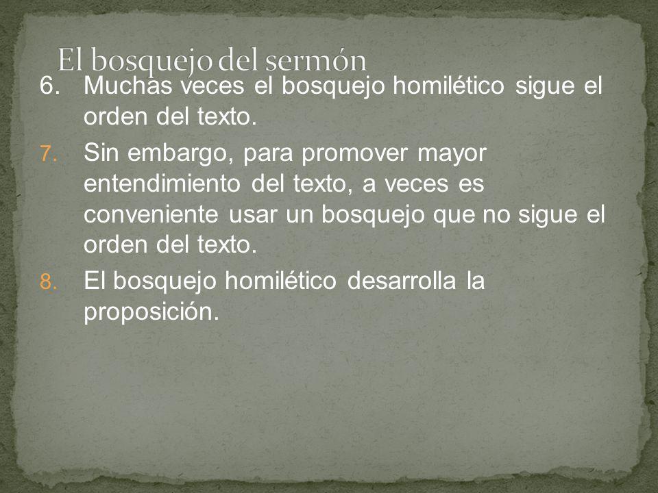 9.Braga (144) sugiere que desarrollemos el bosquejo homilético interrogando la proposición con una de las siguientes preguntas: ¿Por qué.