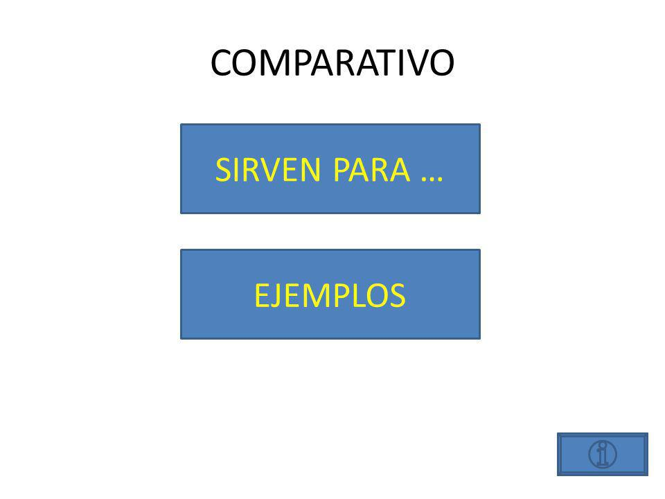 COMPARATIVOS SIRVEN PARA…