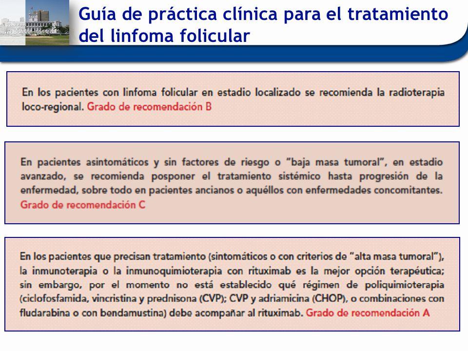 Guía de práctica clínica para el tratamiento del linfoma folicular