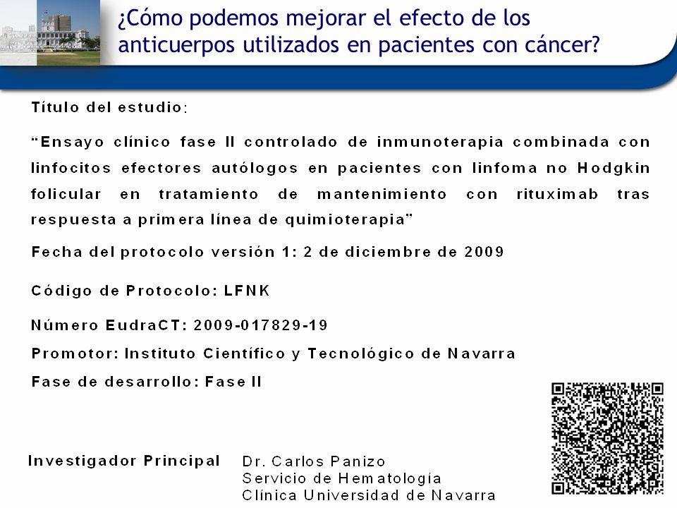 ¿Cómo podemos mejorar el efecto de los anticuerpos utilizados en pacientes con cáncer?