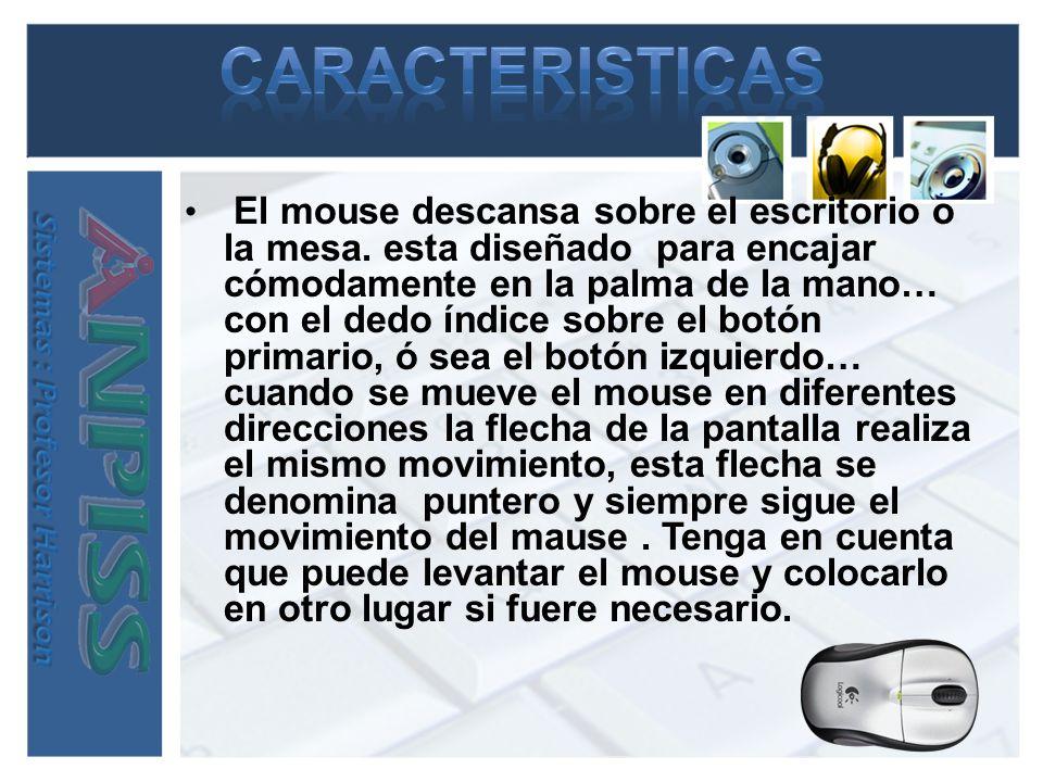 Al igual que utiliza las manos para interactuar con objetos el universo físico, puede utilizar el mouse en para interactuar con elementos de la pantalla del equipo.