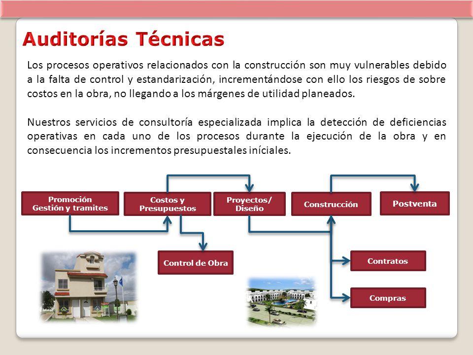 Los procesos operativos relacionados con la construcción son muy vulnerables debido a la falta de control y estandarización, incrementándose con ello