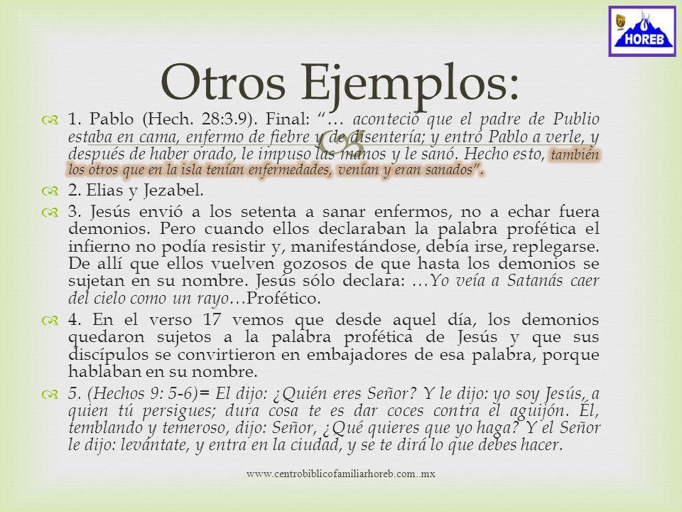 www.centrobiblicofamiliarhoreb.com..mx Ejemplos de tomar el territorio