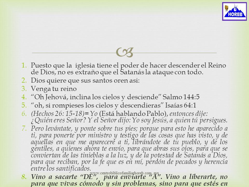1.Mucha gente supone que el Reino de Dios es una cosa lejana, muy lejana.