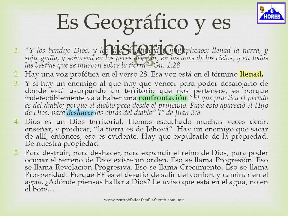 www.centrobiblicofamiliarhoreb.com..mx Es Geográfico y es historico