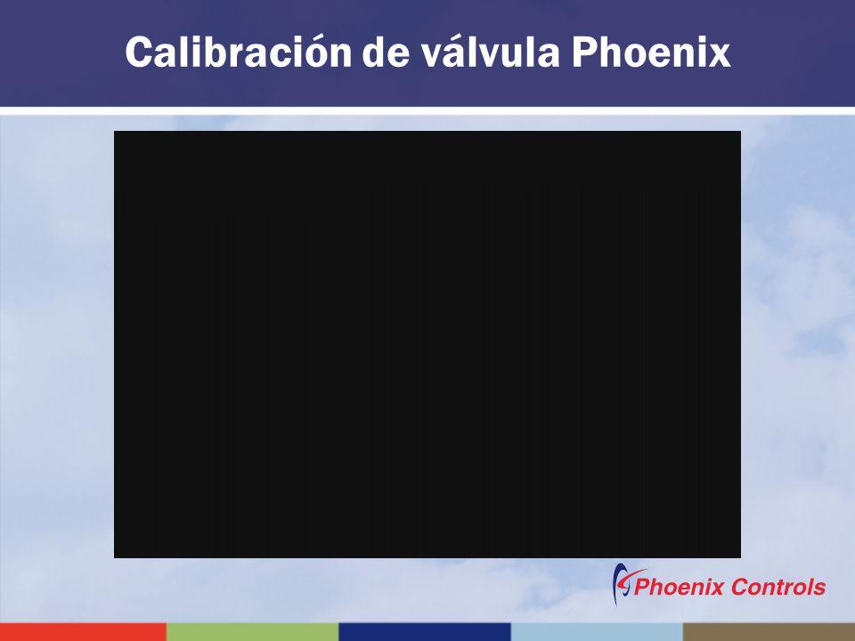 Calibración de válvula Phoenix