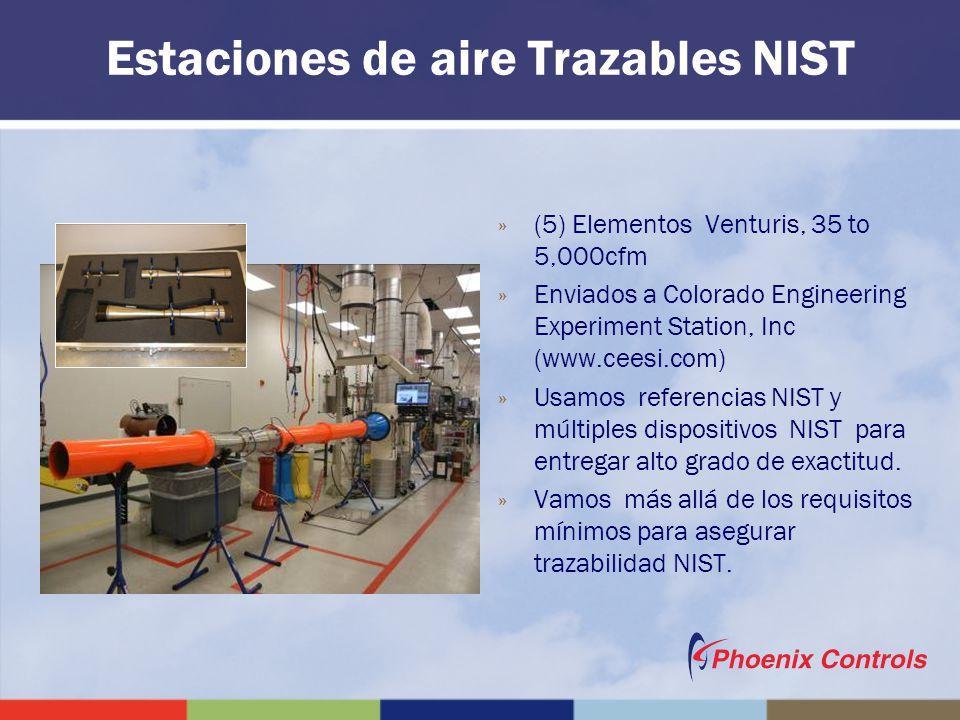 Estaciones de aire Trazables NIST »(5) Elementos Venturis, 35 to 5,000cfm »Enviados a Colorado Engineering Experiment Station, Inc (www.ceesi.com) »Us