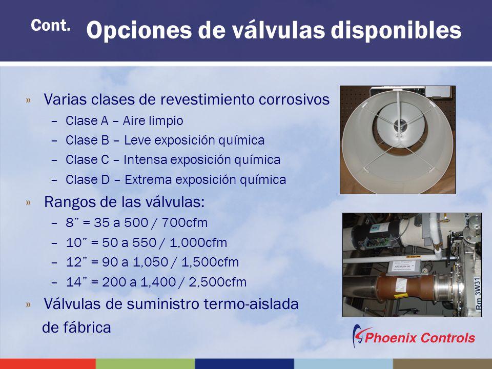 »Varias clases de revestimiento corrosivos –Clase A – Aire limpio –Clase B – Leve exposición química –Clase C – Intensa exposición química –Clase D –