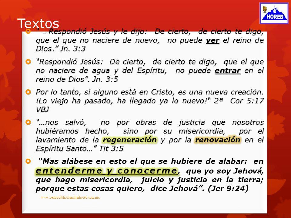 Creados En Cristo Jesus www.centrobiblicofamiliarhoreb.com.mx