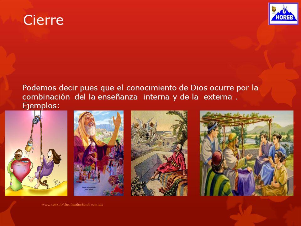 ¿Cómo pues puedo conocer a Di0s www.centrobiblicofamiliarhoreb.com..mx