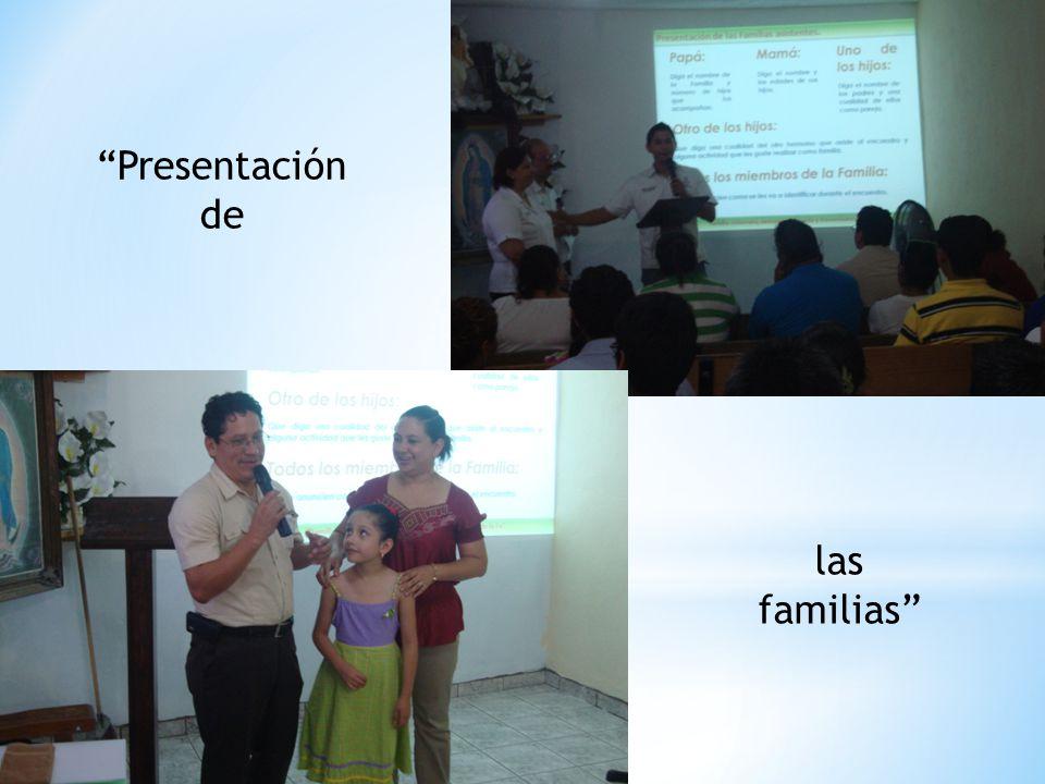 Presentación de las familias
