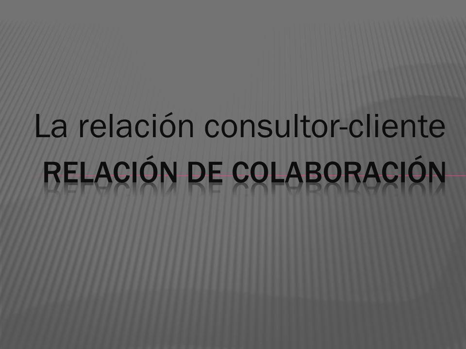 Diferentes situaciones y expectativas de los clientes dan origen a distintas definiciones de las funciones e intervenciones del consultor.