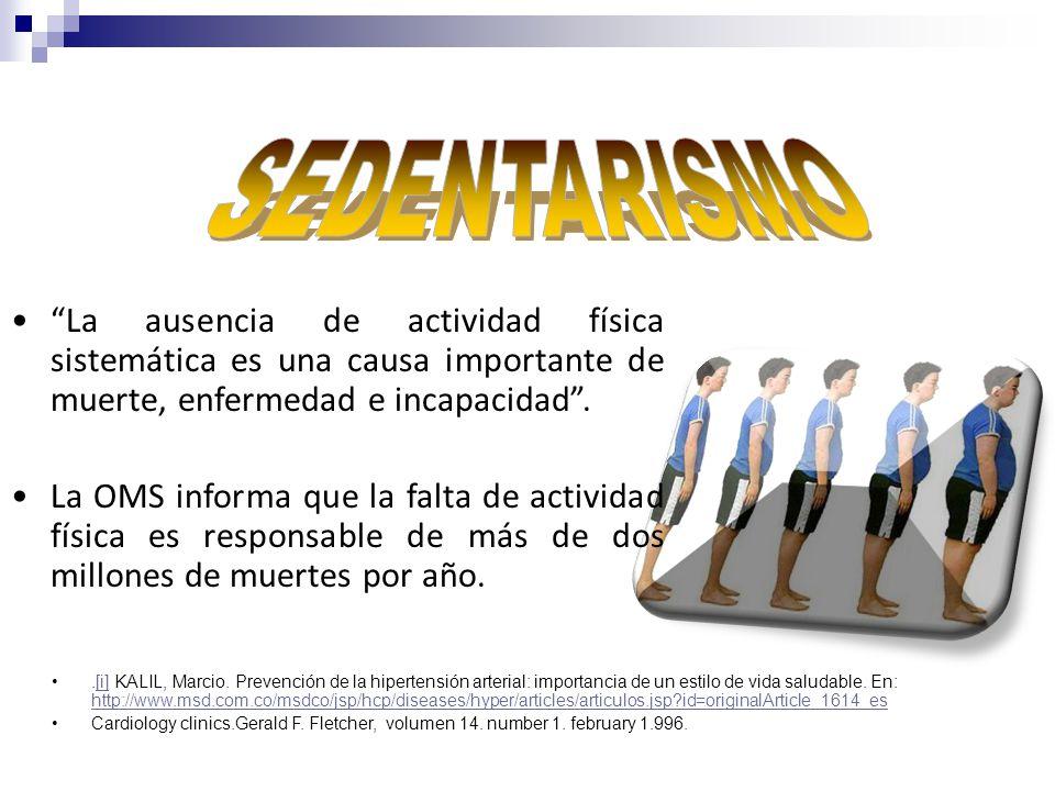 El sedentarismo duplica el riesgo de enfermedades cardiovasculares, diabetes y obesidad y aumenta sustancialmente el riesgo de hipertensión arterial, entre otras patologías.