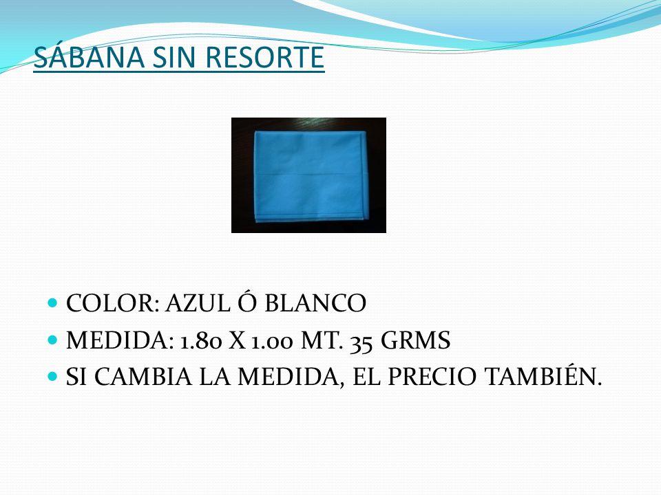 BABERO FACIAL COLOR: BLANCO Y AZUL CALIBRE 30 GRMS.