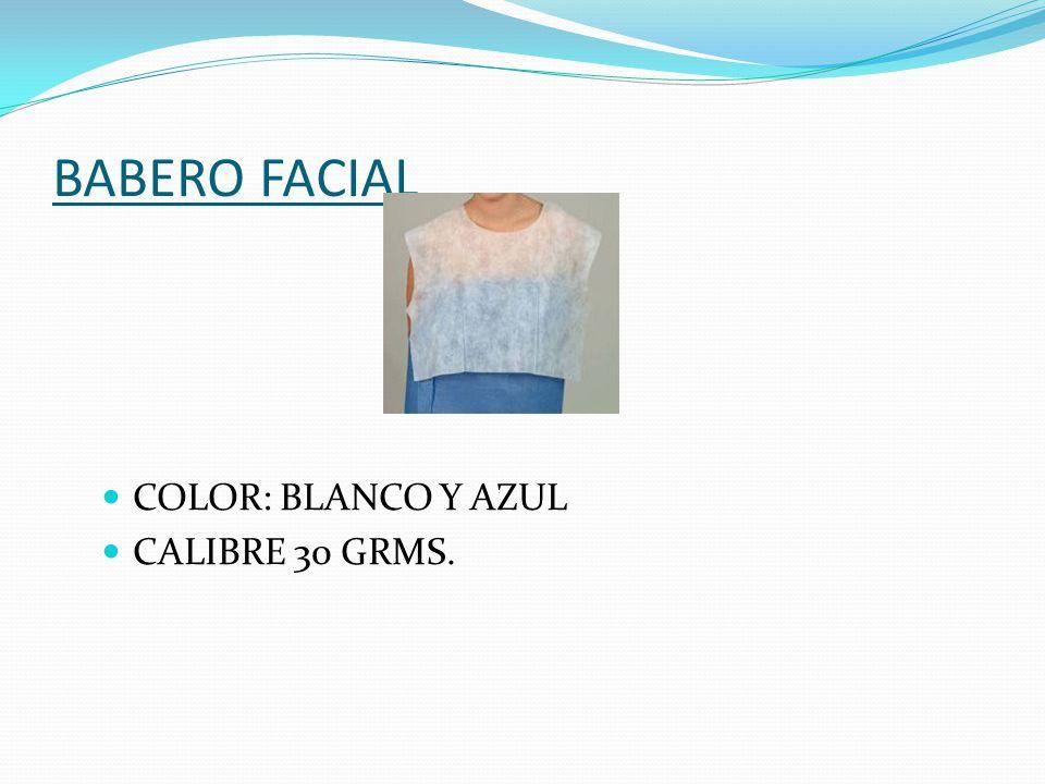 BATA STRAPLESS CORTA COLORES: AZUL Ó BLANCO CALIBRE: 25 GRMS.