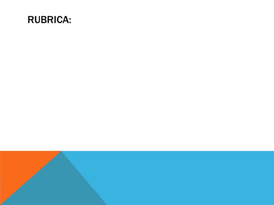 RUBRICA: