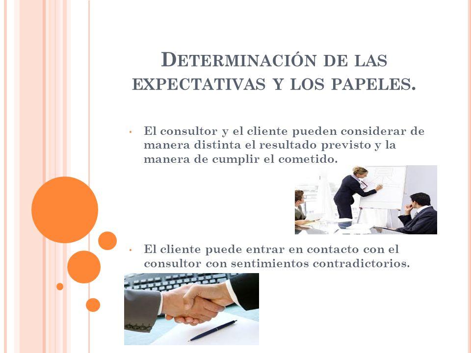 I DENTIFICADOR DE ALTERNATIVAS El consultor elige una solución adecuada Solo es quien busca las soluciones pero no quien toma las decisiones