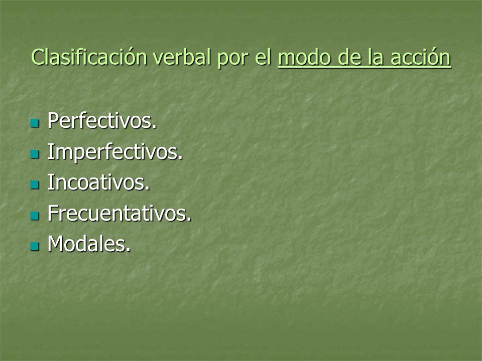 Clasificación verbal por el empleo gramatical Transitivos Transitivos Intransitivos Intransitivos Reflexivos Reflexivos Recíprocos Recíprocos Impersonales Impersonales
