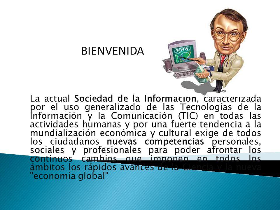 La actual Sociedad de la Información, caracterizada por el uso generalizado de las Tecnologías de la Información y la Comunicación (TIC) en todas las