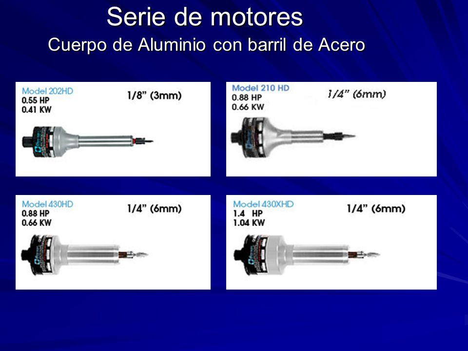 Serie de motores Cuerpo de Aluminio con barril de Acero
