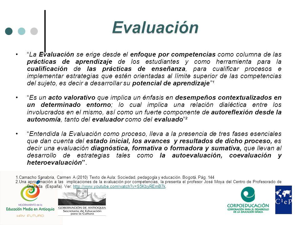 La Evaluación se erige desde el enfoque por competencias como columna de las prácticas de aprendizaje de los estudiantes y como herramienta para la cu