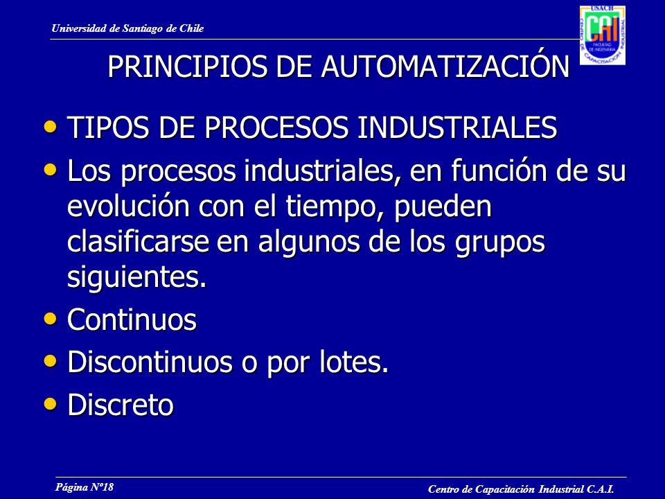 Universidad de Santiago de Chile Centro de Capacitación Industrial C.A.I.
