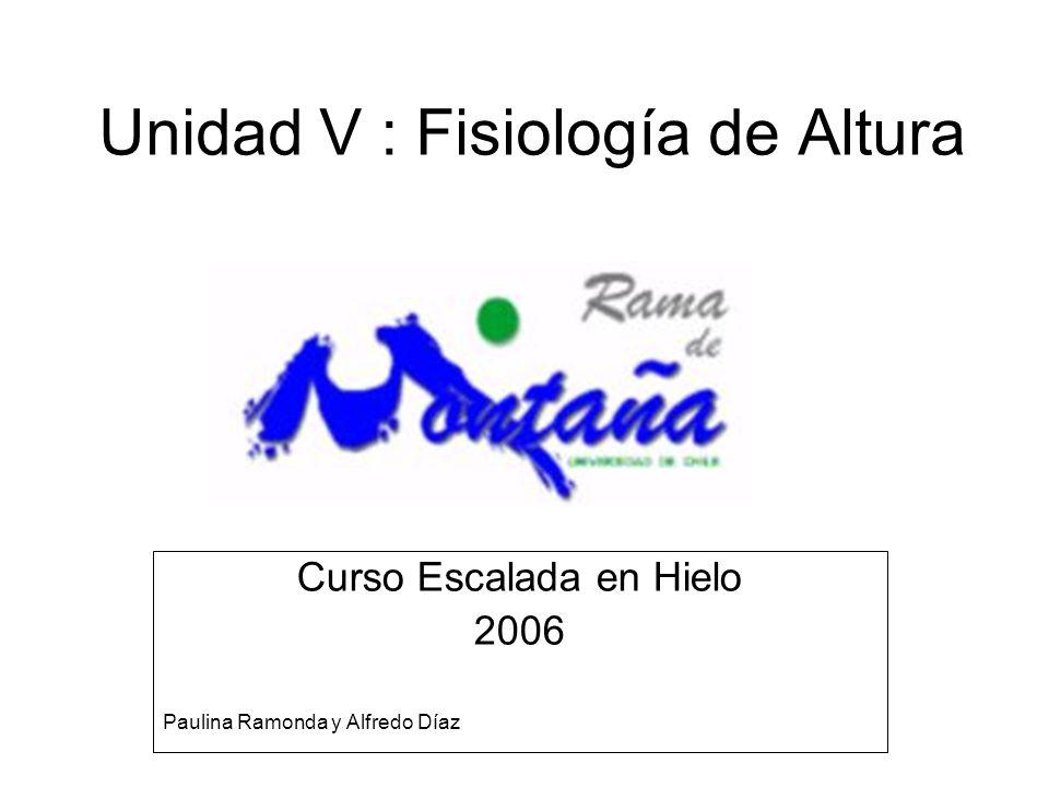 Unidad V : Fisiología de Altura Curso Escalada en Hielo 2006 Paulina Ramonda y Alfredo Díaz