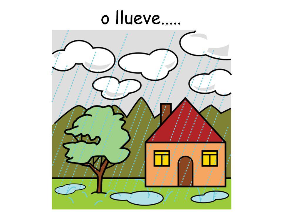 o llueve.....