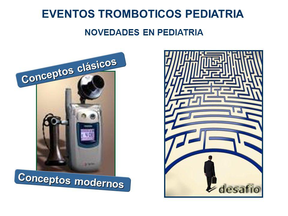 NOVEDADES EN PEDIATRIA Conceptos clásicos Conceptos modernos EVENTOS TROMBOTICOS PEDIATRIA