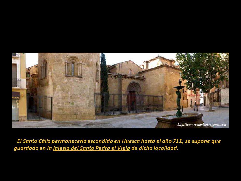 La entrega del Santo Cáliz por parte de San Lorenzo a un soldado podía verse también en unos frescos dibujados en las paredes de la Basílica de San Lo