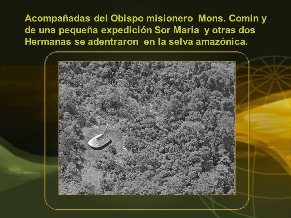 Apenas llegaron a Mendez Sor Maria se ganó la estima de una tribu Shuar operando con un cortaplumas la la hija de un jefe herida por una bala