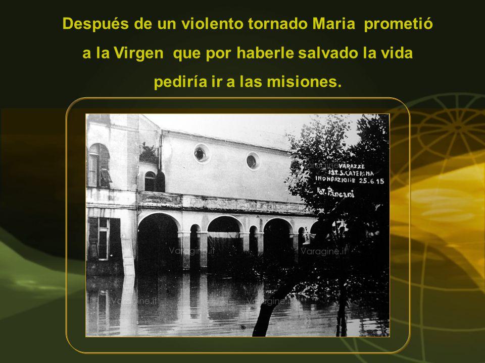 Desarrolló su actividad sobre todo en el campo de la formación a la santidad, en el hospital Pio XII de Sucúa y en numerosos dispensarios.