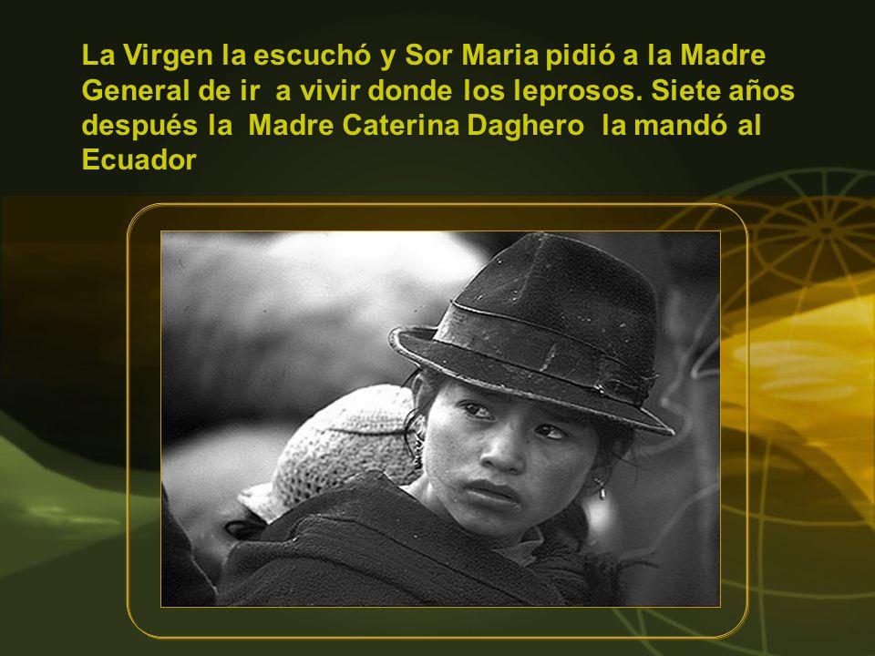 El 25 de agosto de 1969 Sor Maria viaja en avión a Sucúa para los ejercicios espirituales, pero el avión se cae después de decolar.