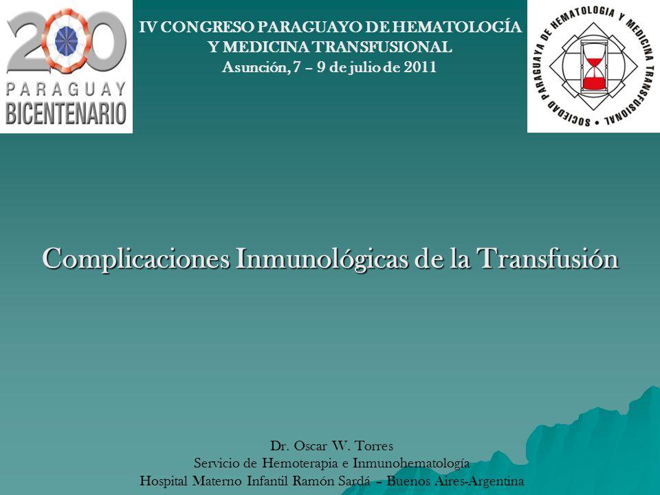 REACCION ALERGICA 2º REACCION ADVERSA MAS FRECUENTE 2º REACCION ADVERSA MAS FRECUENTE 2% DE LOS PACIENTES TRANSFUNDIDOS 2% DE LOS PACIENTES TRANSFUNDIDOS CAUSA: alergenos presentes en el plasma, IgE pasiva, fármacos en el componente, infusión de sustancias vasoactivas (C 3a,C 5a, histamina o leucotrienos) CAUSA: alergenos presentes en el plasma, IgE pasiva, fármacos en el componente, infusión de sustancias vasoactivas (C 3a,C 5a, histamina o leucotrienos) SINTOMAS: urticaria + prurito, edema facial, broncoespasmo, disnea, cianosis, náuseas vómitos, diarrea.