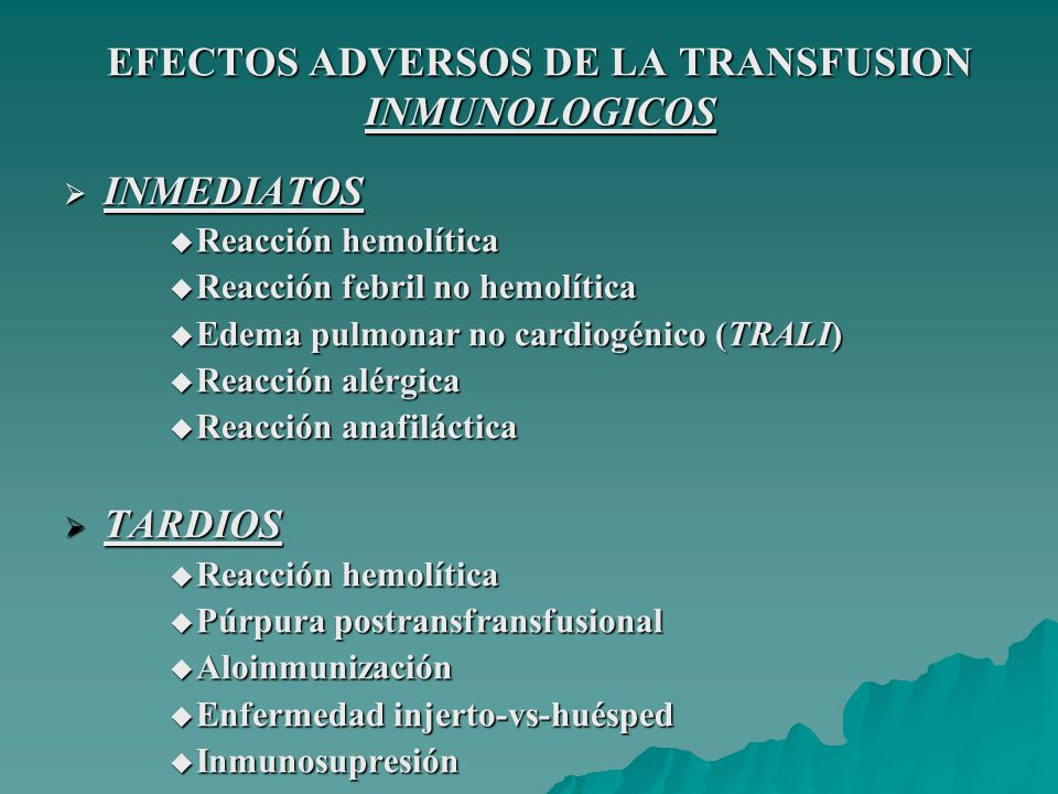 REACCION HEMOLITICA AGUDA CONDUCTA En la habitación: INTERRUMPIR LA TRANSFUSION INTERRUMPIR LA TRANSFUSION DOCUMENTAR LOS SÍNTOMAS DE LA REACCION DOCUMENTAR LOS SÍNTOMAS DE LA REACCION MANTENER LA VIA PERMEABLE CON S.F.