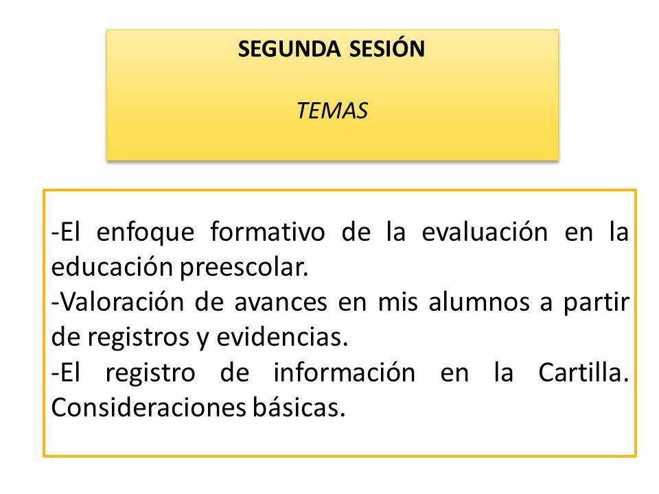 -El enfoque formativo de la evaluación en la educación preescolar.