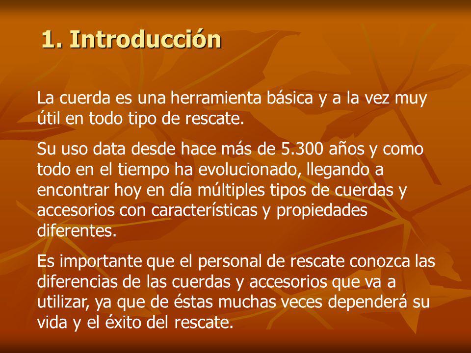 1.Introducción La cuerda es una herramienta básica y a la vez muy útil en todo tipo de rescate.