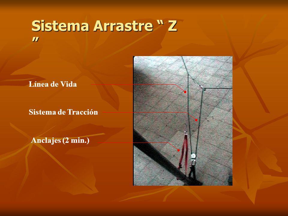Sistema Arrastre Z Sistema Arrastre Z Línea de Vida Sistema de Tracción Anclajes (2 min.)