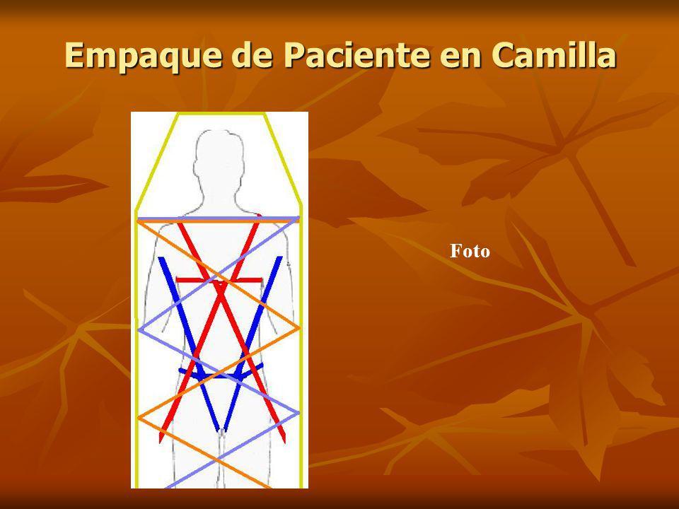 Foto Empaque de Paciente en Camilla