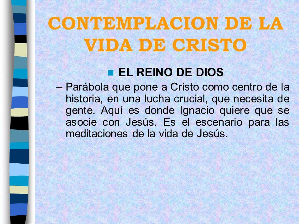 CONTEMPLACION DE LA VIDA DE CRISTO EL REINO DE DIOS –Parábola que pone a Cristo como centro de la historia, en una lucha crucial, que necesita de gent