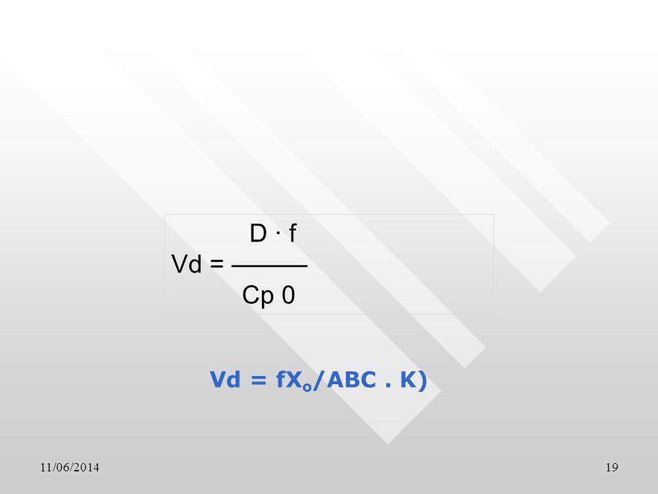 11/06/201419 D · f Vd = Cp 0 Vd = fX o /ABC. K)