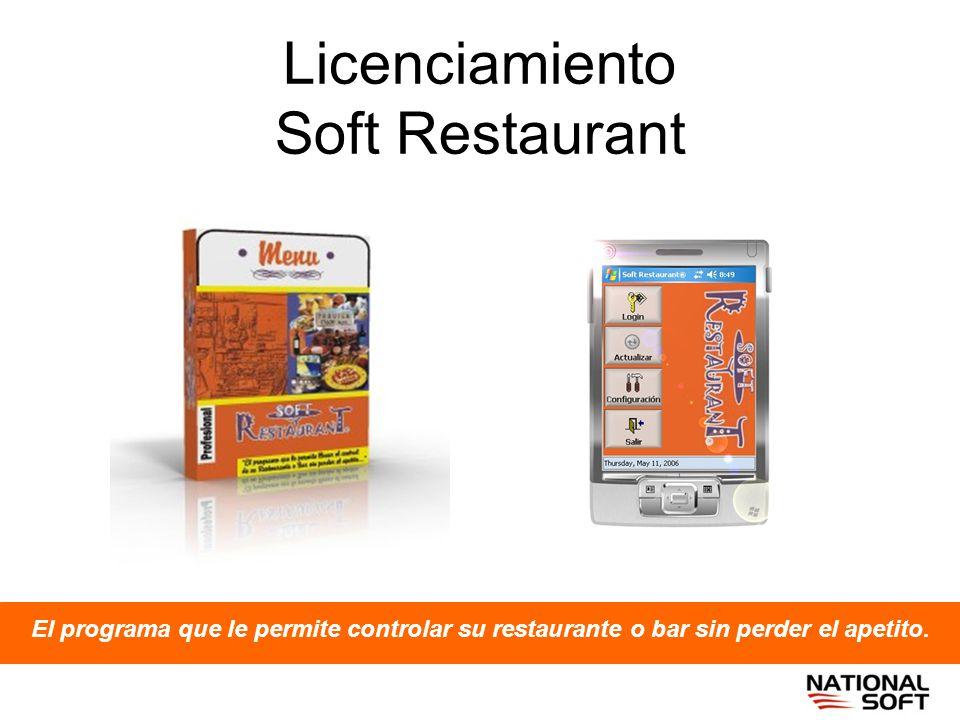 Licenciamiento Soft Restaurant El programa que le permite controlar su restaurante o bar sin perder el apetito.